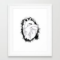 anatomical heart Framed Art Prints featuring Anatomical Heart by JodiYoung
