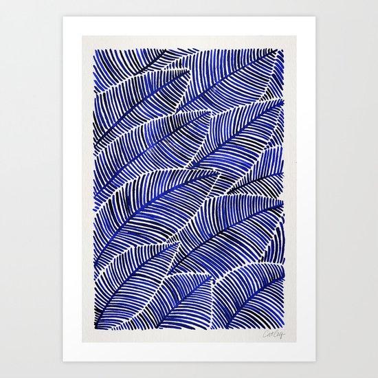 Tropical Navy Art Print