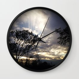 Peaceful and powerful sunset Wall Clock