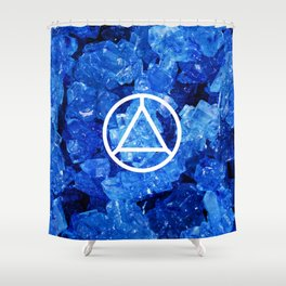 Sapphire Candy Gem Shower Curtain