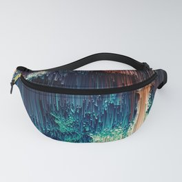 Cave of Wonders - Abstract Glitch Pixel Art Fanny Pack