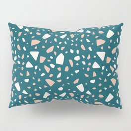 Blue granite terrazzo tile Pillow Sham