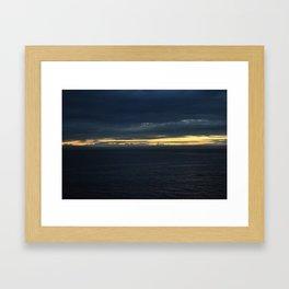 Stunning sunset over the ocean 2 Framed Art Print