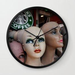 Mannequins & Starbucks Wall Clock