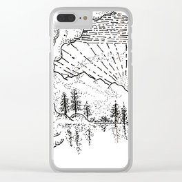 Sketch 37 - Mountain View Clear iPhone Case