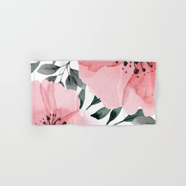 Big Watercolor Flowers Hand & Bath Towel