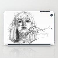 sia iPad Cases featuring Sia Scribbles (Pen Art) by Aeriz85
