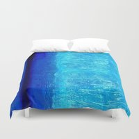 aqua Duvet Covers featuring Aqua by BruceStanfieldArtistPainter