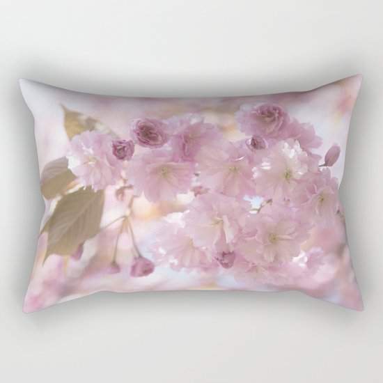 Pink Spring Cherryblossoms on #Society6 Rectangular Pillow