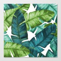Tropical Banana Leaves Unique Pattern Canvas Print