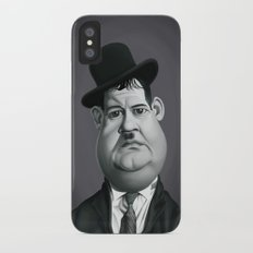 Oliver Hardy iPhone X Slim Case