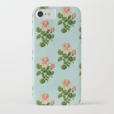 vintage rose - blue iPhone 7 Slim Case