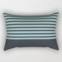 Navy stripes on turquoise Rectangular Pillow