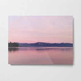 Rose Colored Dream of Lake Tahoe Metal Print