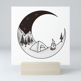 Camping Night | Outdoor Nature Starry Sky Mini Art Print