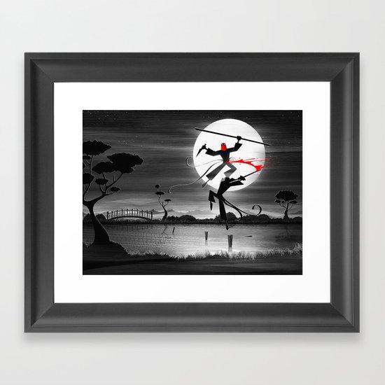 Blood, Over Water Framed Art Print