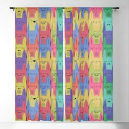 Rainbow Bunnies Blackout Curtain