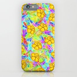 Hawaiian Yellow Flowers iPhone Case