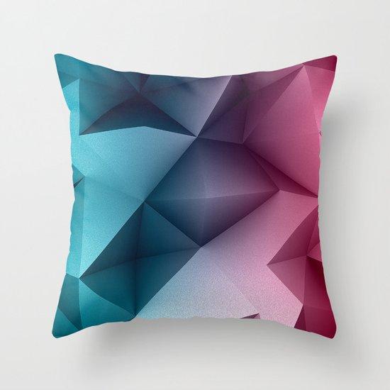 Polymetric Ocean Floor Throw Pillow