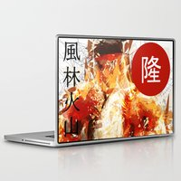street fighter Laptop & iPad Skins featuring Street Fighter II - Ryu by Carlo Spaziani
