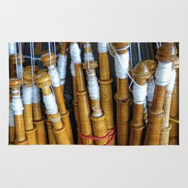 Bolillos or Lace Spindles Rug