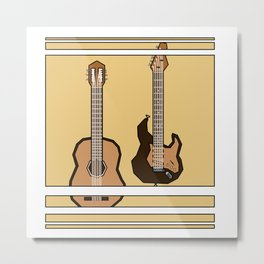 double guitar Metal Print