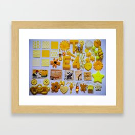 Yellow Trinkets Framed Art Print
