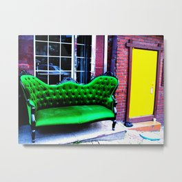 The first thing I did was to sit down on the sofa.  Metal Print
