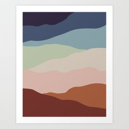 Ridge Mountains Art Print