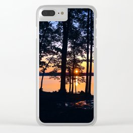 Sunrise at Lake Pemaquid Campground in Damariscotta, Maine (2) Clear iPhone Case