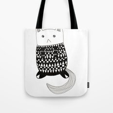 Cat with pattern  Tote Bag