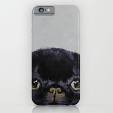 Black Pug iPhone 6 Slim Case