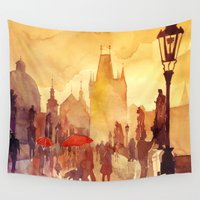 bridge Wall Tapestries featuring Charles Bridge by takmaj