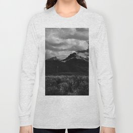 Dramatic Clouds over Mountain Range in Big Bend Long Sleeve T-shirt