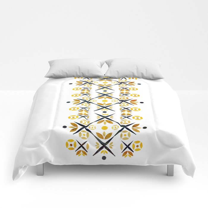 The Fence (Gold) Comforters