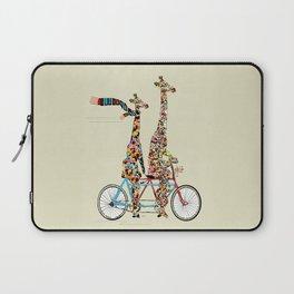 giraffe days lets tandem Laptop Sleeve