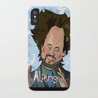 aliens iPhone & iPod Cases featuring Aliens by Slightly Absurd