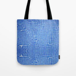 Abstract blue background grid Tote Bag