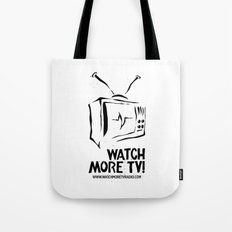 Watch More TV Radio Tote Bag