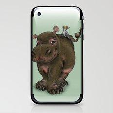 Hippo and Bird Friend iPhone & iPod Skin