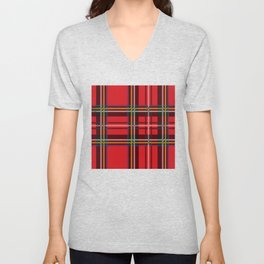 red kilt Unisex V-Neck