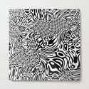 Black  and white psychedelic optical illusion by lebensartdesign