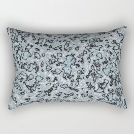 Blue and Black Marble Stone Texture Rectangular Pillow