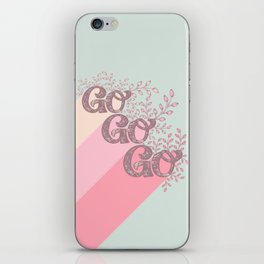 Go Go Go - Pink and Green iPhone Skin
