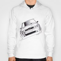 gta Hoodies featuring Alfa Romeo 155 GTA by Michele Leonello