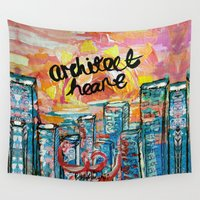architect Wall Tapestries featuring Architect Heart by Anwar B