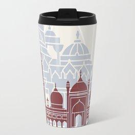 Delhi skyline poster Travel Mug