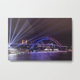 Vivid Sydney 2017_12 - Sydney Harbour Bridge Metal Print