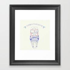 nine lives cat Framed Art Print