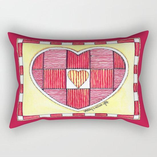 Pinstripe Heart Rectangular Pillow